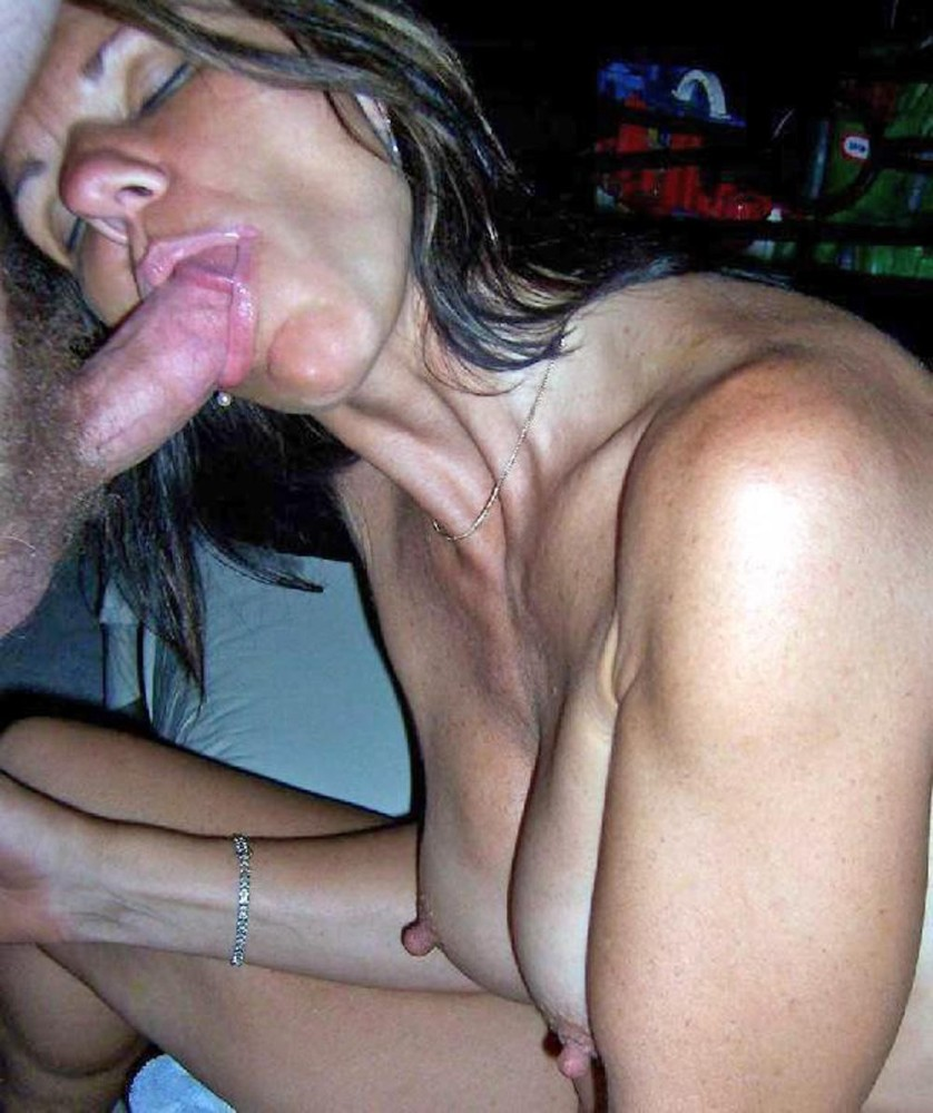 Amateur mature wife blowjob