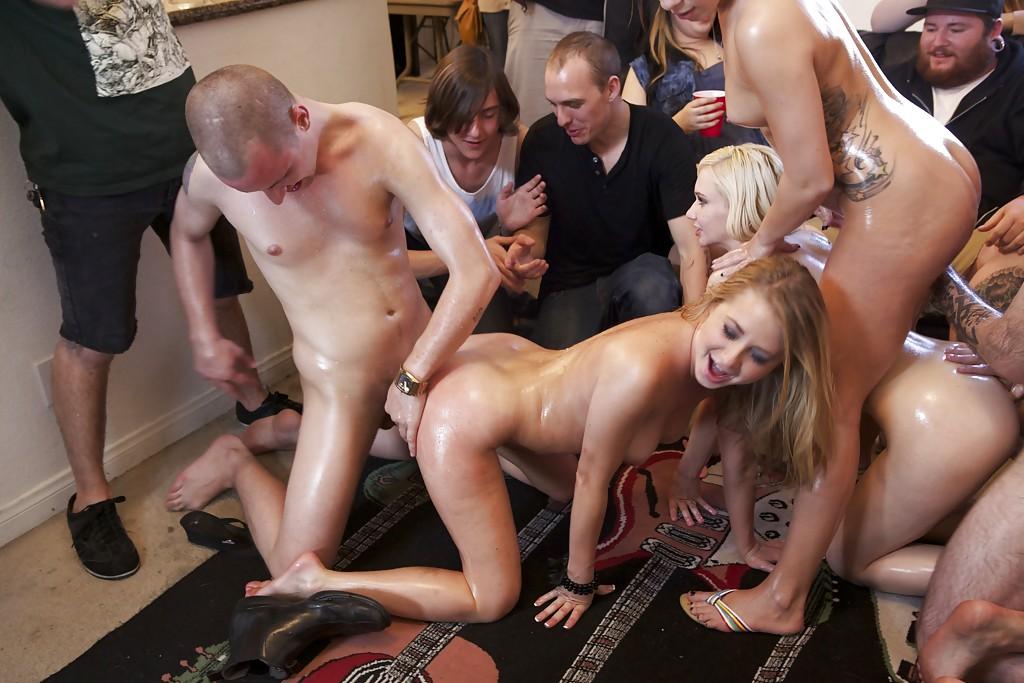 Bondage group orgy parties