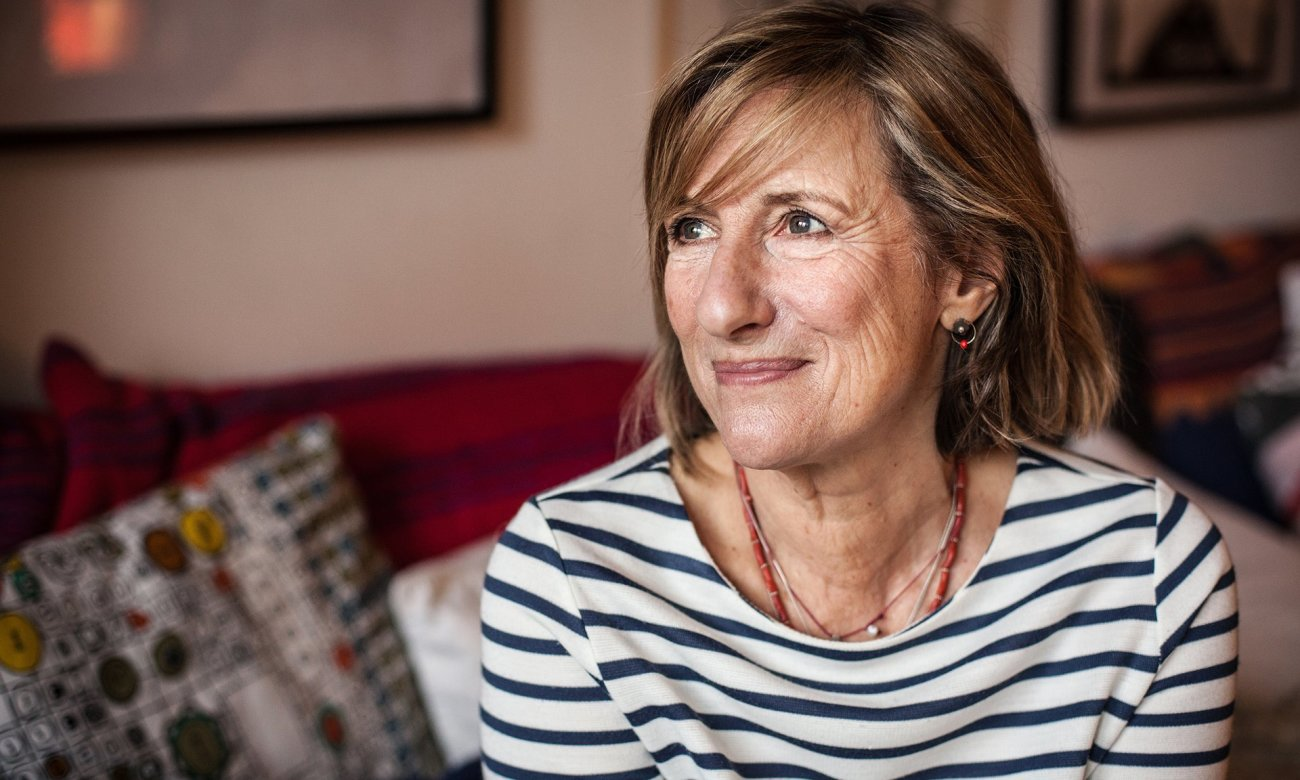 Beautiful middle age mature woman wearing stock photo