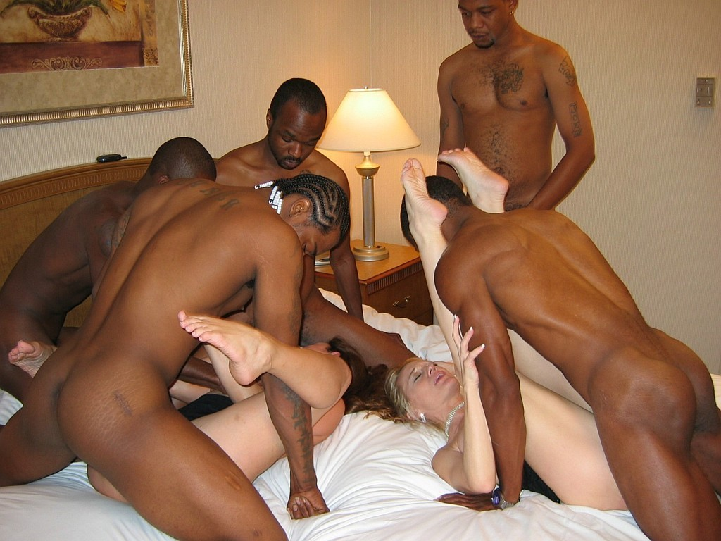Free interracial group anal sex