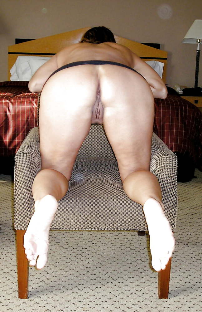Nude mature hot wife bending over on the pool table photos