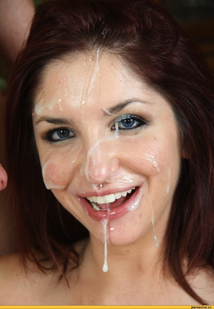 Wife with cum on face