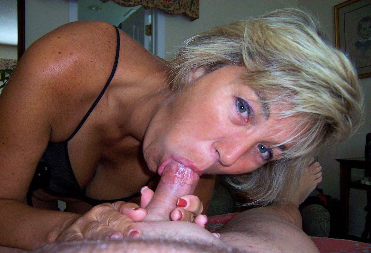 Homemade mature blowjob photo