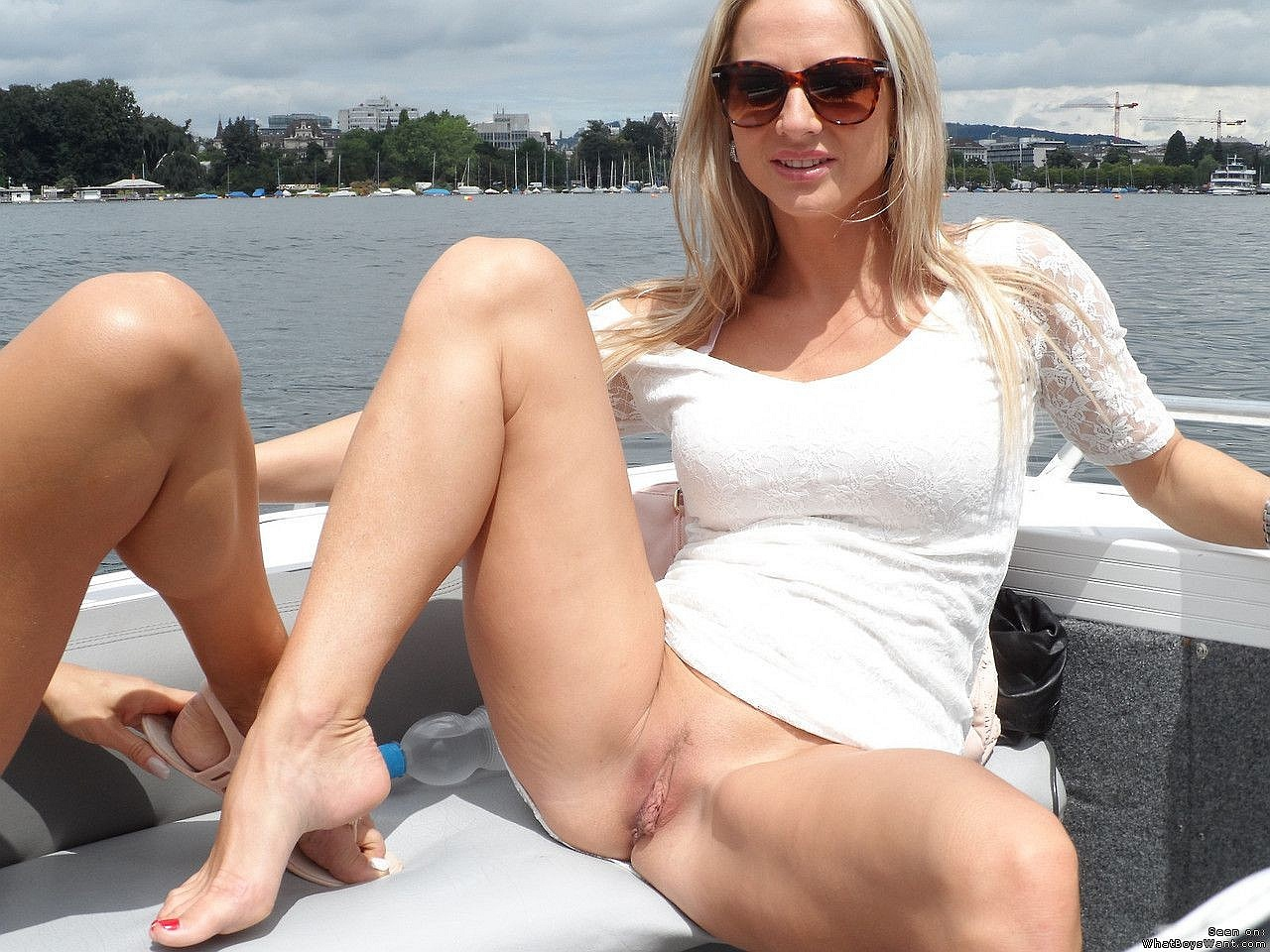 Sexy Wife Flashes Pussy In A Public Place Photos