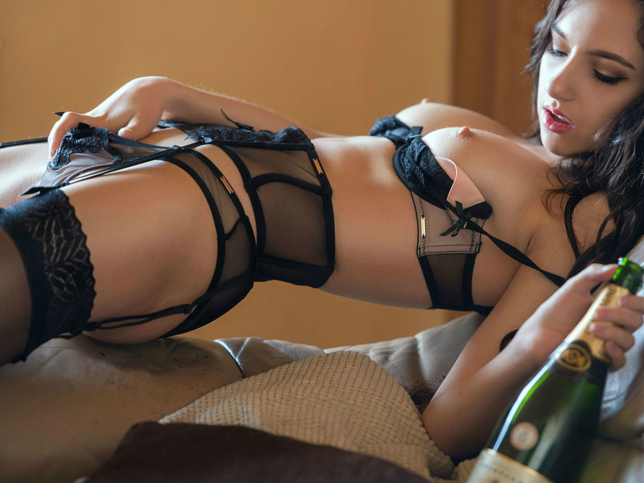 Black girls sexy lingerie, romper suit on stylevore