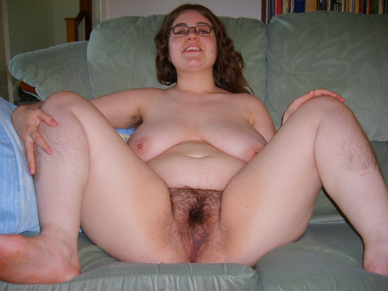 Naked fat hairy granny