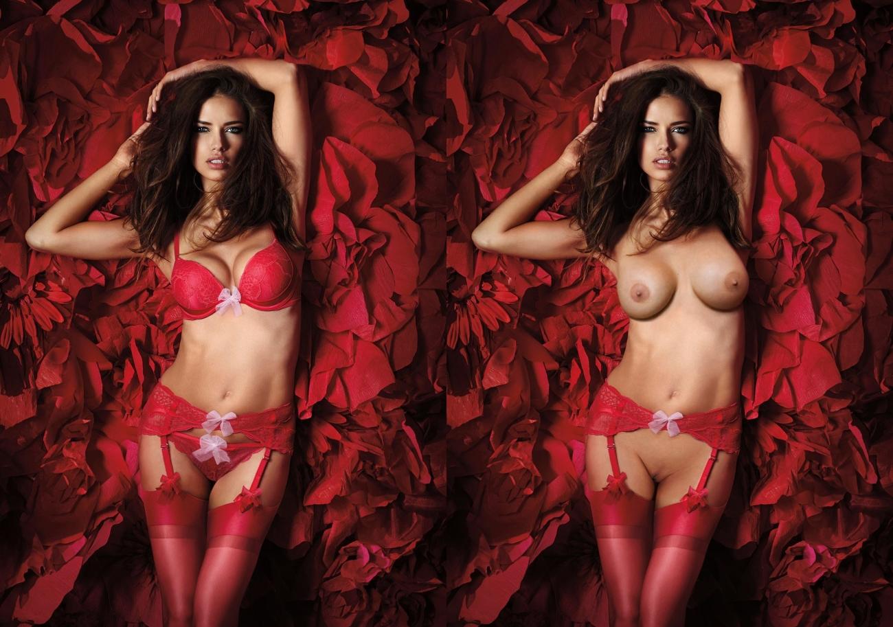 Victoria's secret topless models