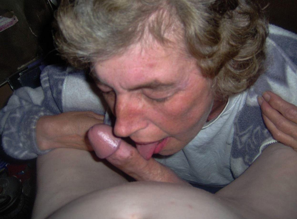 My white granny loves sucking my black cock