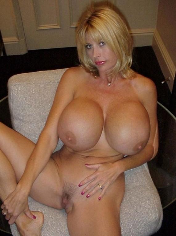 Blonde mature huge tits solo