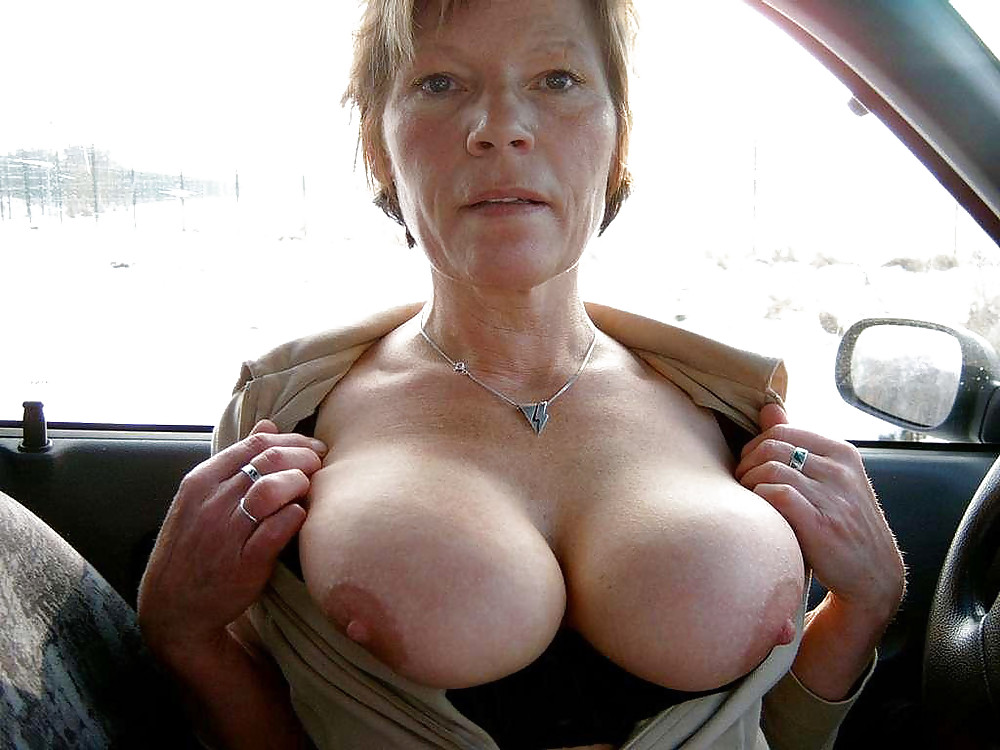 Large mature bare breasts