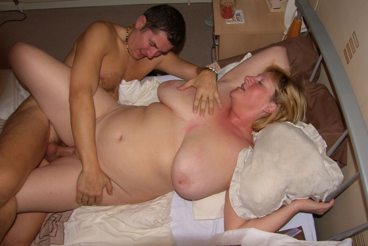 Horny mom fucks her drunk son