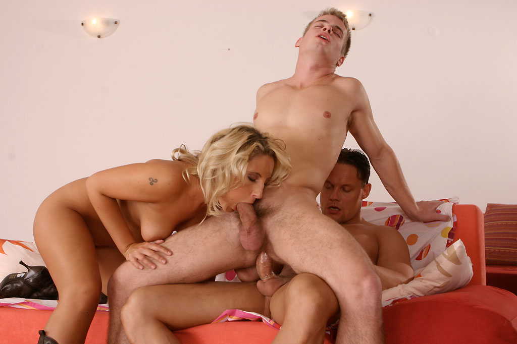 Bisexual anal sex threesome