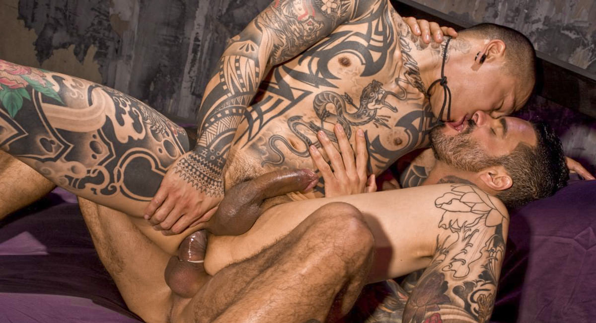 Hot sexy naked men with tattoos