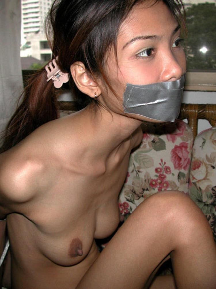 Asian Chick Tied Up