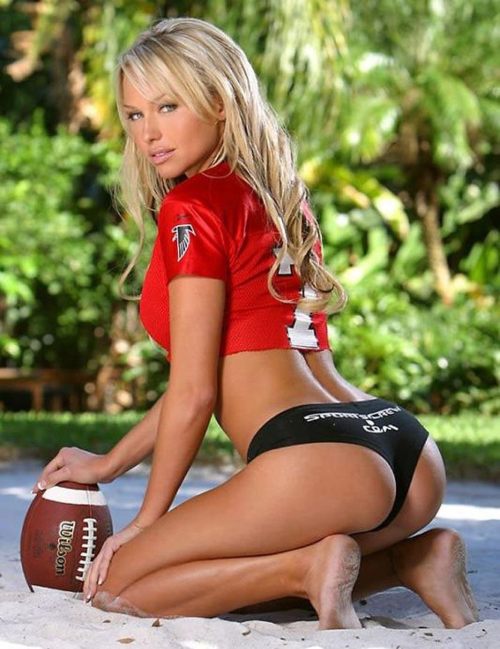 Sexy football girl beach towel for sale by jt photodesign