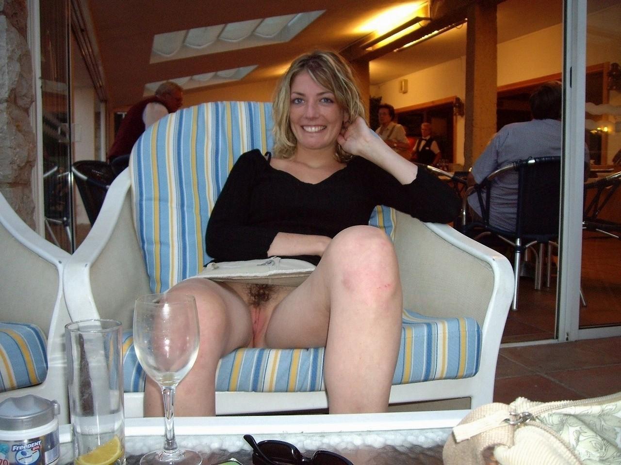My perverted horny white wife enjoys vehement upskirt sex in homemade vid