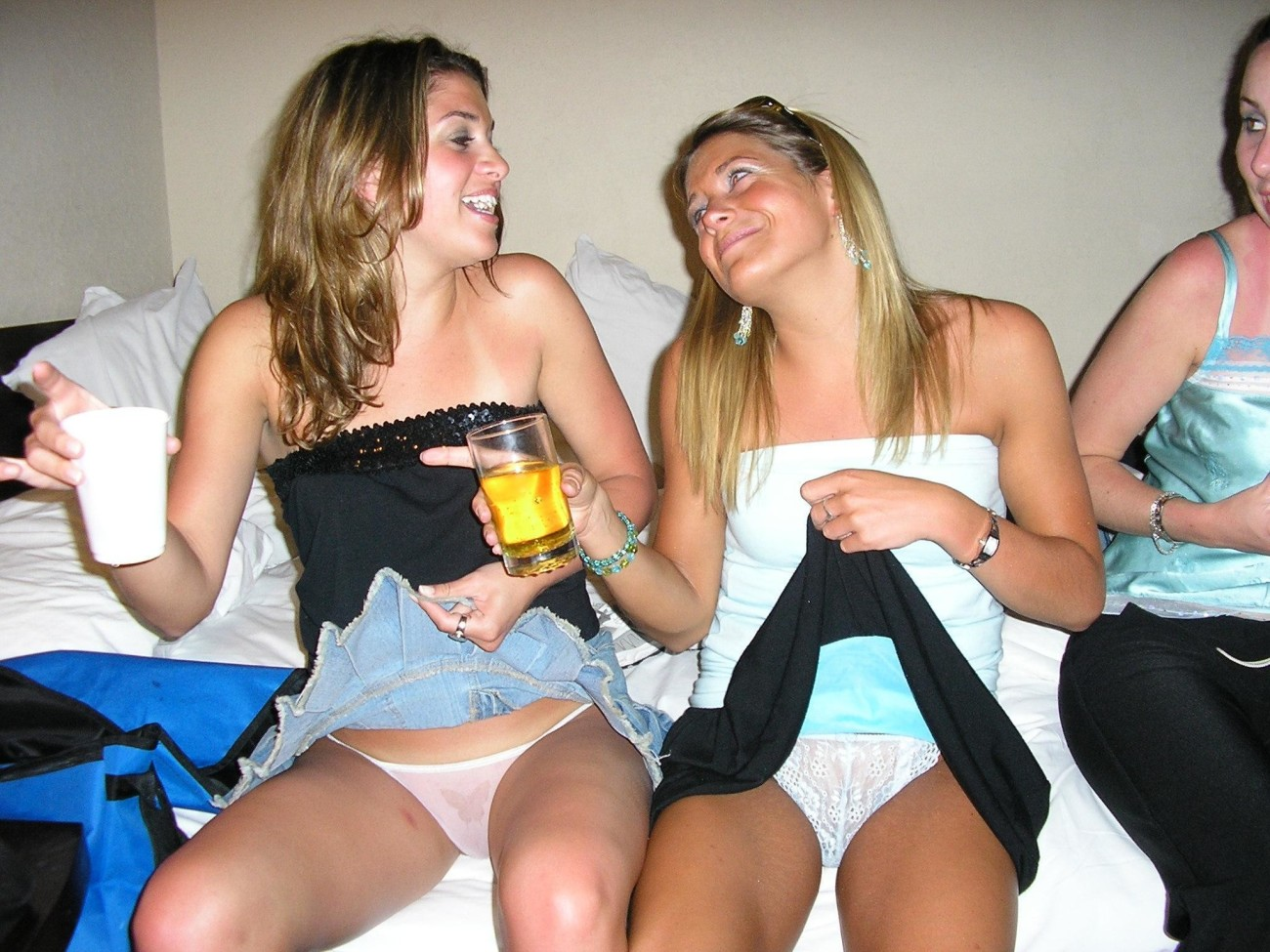 Drunk College Girls Upskirt Flashing Panties Pussies And Perky Tits