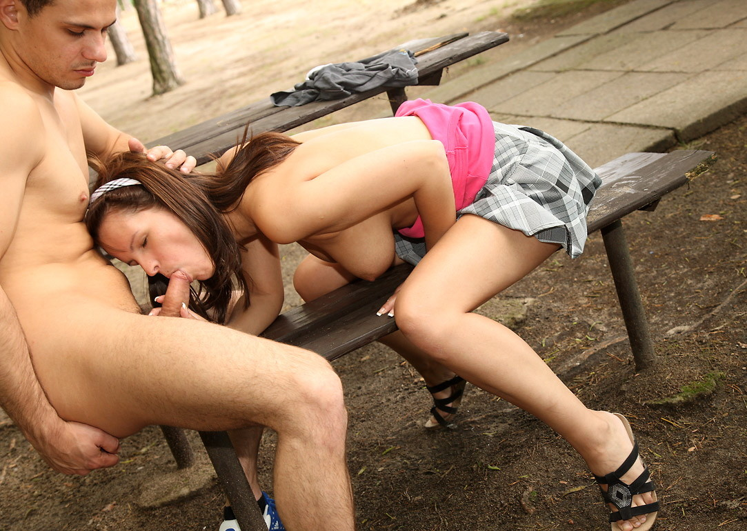 Czech girls fucking on public place