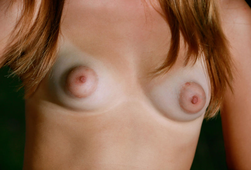 Small breasts long nipples
