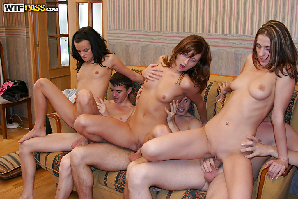 Naked girls orgy team