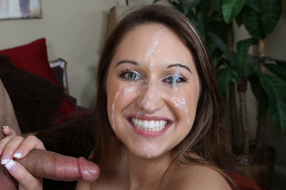 Unexpected massive facial cumshot and her big surprise